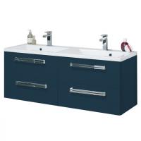Meuble sous-vasque SEDUCTA 120 cm 4 tiroirs bleu