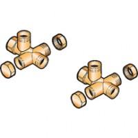 Croix de raccordement modules et/ou ballon 1/4 DE DIETRICH