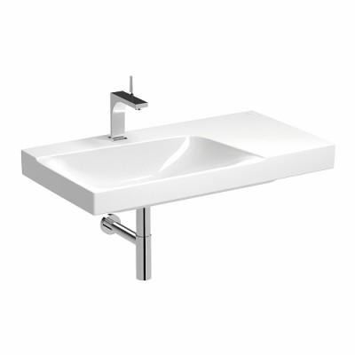 Plan de toilette asymètrique xeno2 90cm cuve à gauche str bandeau ALLIA