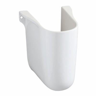 Cache siphon pour lavabos 65/60 blanc ALLIA