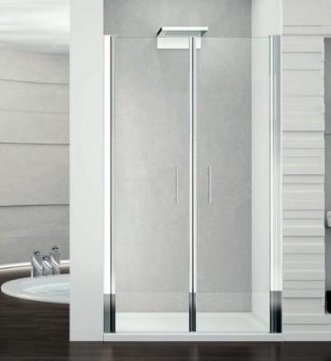 Paroi fixe 93/96cm verre aqua silver NOVELLINI DIFFUSION FRANCE