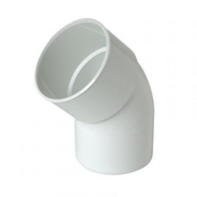 Coude mâle-femelle 45° blanc descente diamètre 80mm NICOLL