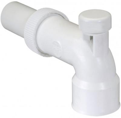 Sortie de lavabo coudée avec anti-vide blanc NICOLL