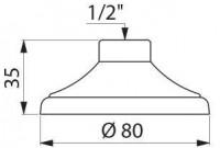 Pomme de douche femelle 15x21 à galerie diamètre 85 DELABIE