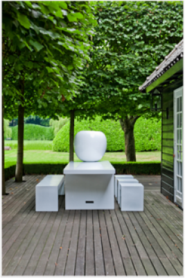 pomme d corative xxl blanche pottery pots dunkerque 59240 d stockage habitat. Black Bedroom Furniture Sets. Home Design Ideas