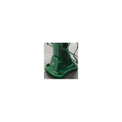 Platine pour poteau EASYCLIP aluminium vert avec 4 chevilles