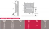 Convecteur électrique F117T blanc à thermostat électronique 1000W ATLANTIC ELECTRIQUE