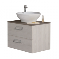 Sous-vasque SEDUCTA 60cm 2 tiroirs en bois