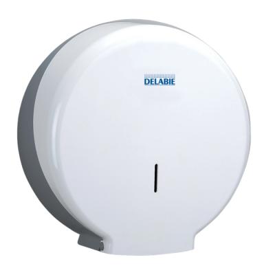 Distributeur mm papier wc+serrure ABS blanc DELABIE