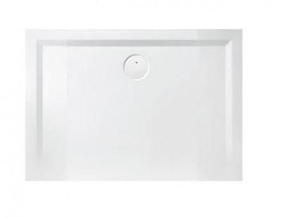 Receveur rectangulaire SPACE Minéral 70X100 blanc antidérapant LEDA