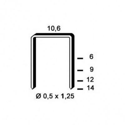 Agrafe galvanisé 6PF121 12mm boîte de 4000