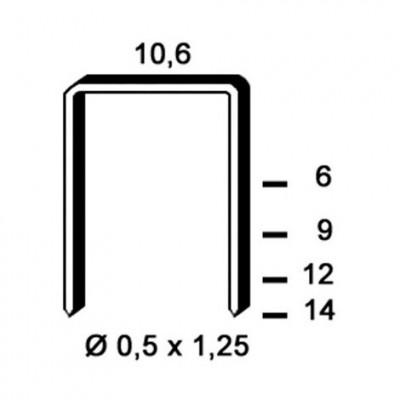 Agrafe galvanisé 6PF061 6mm, boîte de 5000
