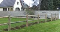 Poteau de clôture RANCH intermédiaire traitement classe 4 vert 140x1500mm appointes 2 lisses