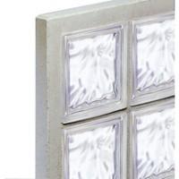 Panneau de verre standard n23195 incolore nuagé 47x67cm épaisseur 5cm