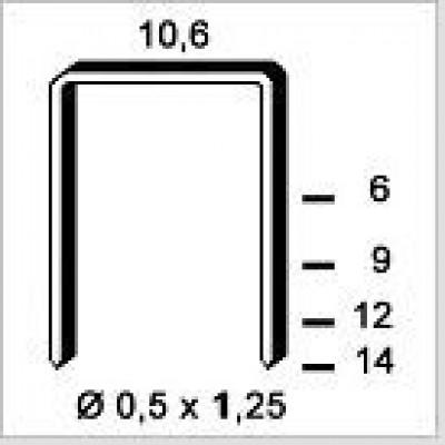 Agrafe galvanisé 6PF141 14mm boîte de 3000