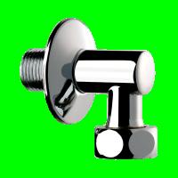 Raccord d'équerre alimentation d'un robinet mâle femelle 15x21 DELABIE