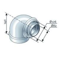 Coude 45° ventouse verticale SAUNIER DUVAL