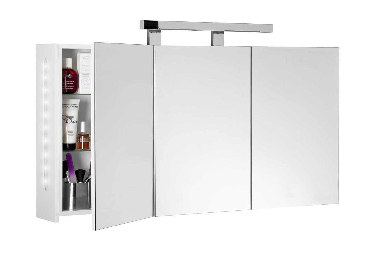 Hauteur Armoire De Toilette armoire de toilette twilight 120 cm blanc aquarine