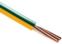 Fil cuivre HO7VR 6 vert/jaune couronne de 100m