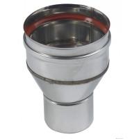 Réduction inox316 dimensions 125F/100M + joint lèvre TEN