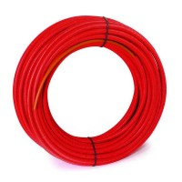 Tube PER gainé 25x2,3 rouge 50m COMAP