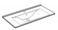 Plan de toilette céramique l 93cm profondeur 48cm DELPHA