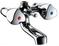 Mélangeur bain-douche mâle 15x21 entraxe 110mm bec fixe réf D2410 DELABIE