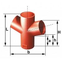 Culotte double SMU S 68° diamètre nominal 100mm PONT A MOUSSON