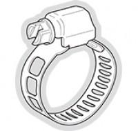 Collier de serrage inox 110-130mm (5) PB FIXATION