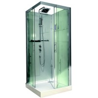 Cabine de douche Domino 90x90cm, version confort