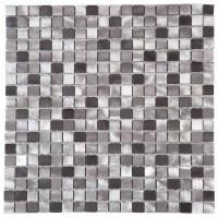 Panneau ve couleur mix gris déc 30x30  BATI ORIENT IMPORT