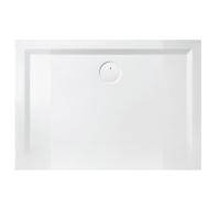 Receveur rectangulaire space minéral 80x100 blanc LEDA