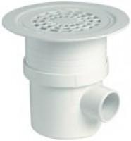 Siphon sol plastique grille PVC horizontal NICOLL
