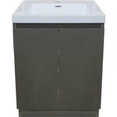 meuble sous vasque primeo 80cm au sol 2 portes gris rennes 35920 d stockage habitat. Black Bedroom Furniture Sets. Home Design Ideas