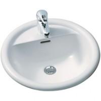 Vasque FLORA ronde diamètre 48cm blanc