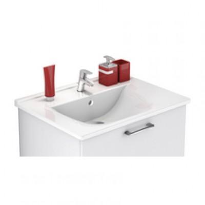 Plan céramique blanc p48cm l123cm simple vasque DELPHA