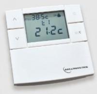 Thermostat digital filaire 3V blanc été/hiver BAILLINDUSTRIE