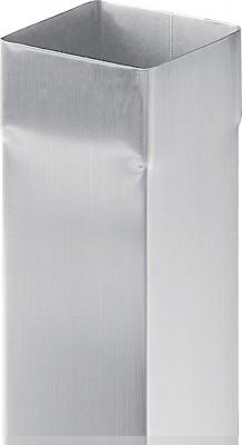 Tuyau carré 80mm 2m 70 blanc laqué VMZINC