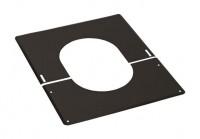 Plaque de finition 30° à 45° inox diamètre 130 noire TEN