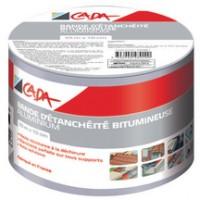 Bande d'étanchéité bitumineuse aluminium 10mx15cm CADA