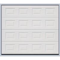 Porte de garage sectionnelle EUROPRO NE wood blanc motif 2125x2375mm TUBAUTO