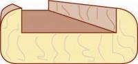 Nez de cloison pin sans noeud 24X64X2600