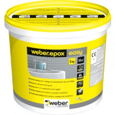 Colle et joint Weber EPOX EASY blanc 5kg WEBER