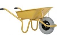Brouette expert 100 roue increvable jaune