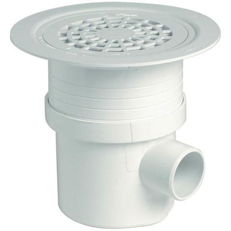 Siphon en pvc blanc pr t carreler et sceller nicoll for Nettoyer pvc blanc