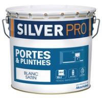Peinture porte plinthes glycéro satin blanc 10litres SILVER PRO