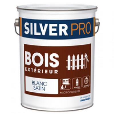 peinture bois xt rieur satin vert olivier 4 litres silver pro saint thibault des vignes. Black Bedroom Furniture Sets. Home Design Ideas