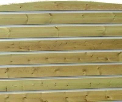 Lame pour clôture H Bombé Cl4 vert Ep.28 l145xL2000mm