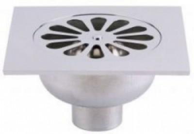 Siphon de sol sortie horizontale/sortie verticale 150x150mm en laiton VALENTIN