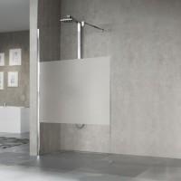 Paroi de douche porte pivotant giada H vitré et chromé NOVELLINI